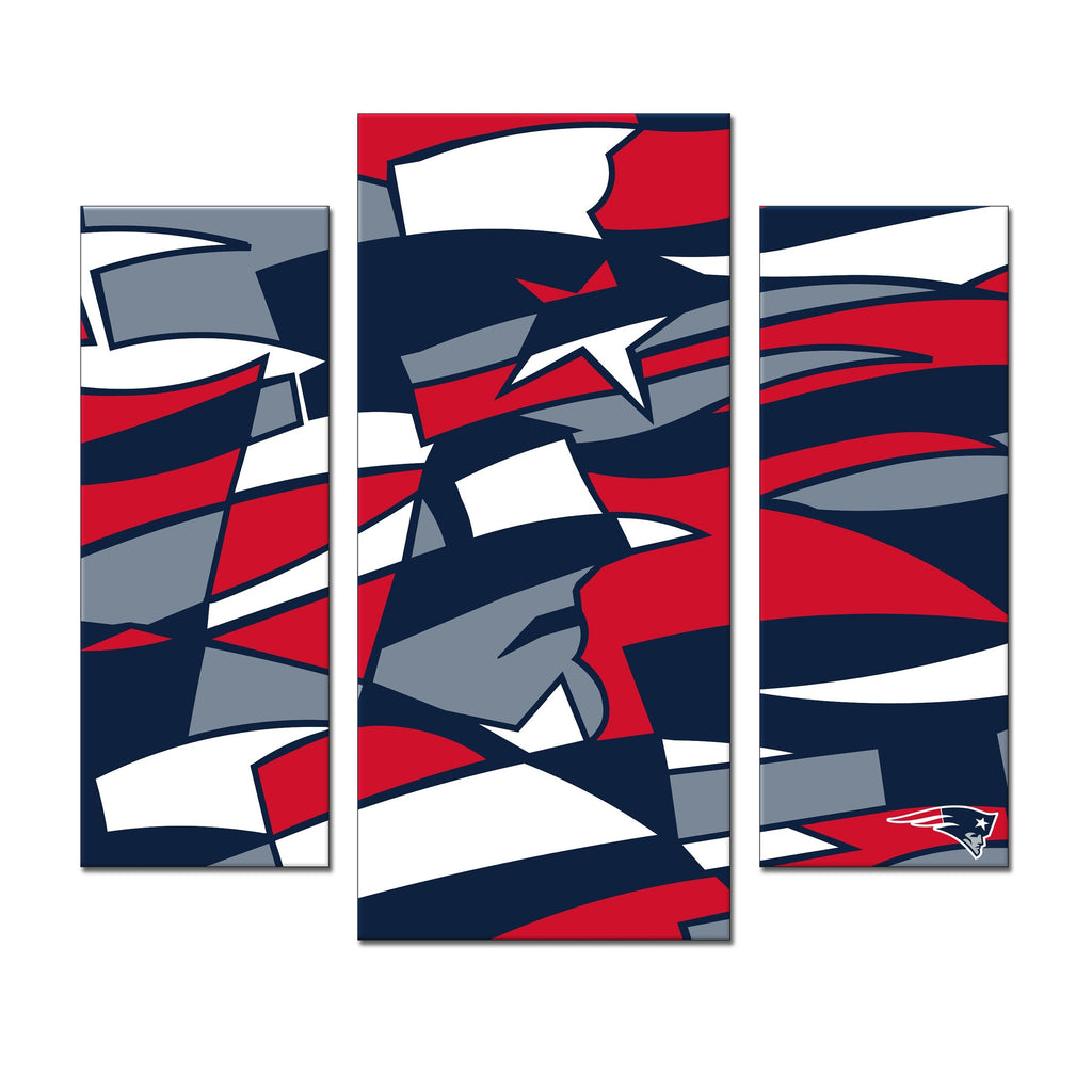 Imperial New England Patriots Modern 3 Piece Wall Art
