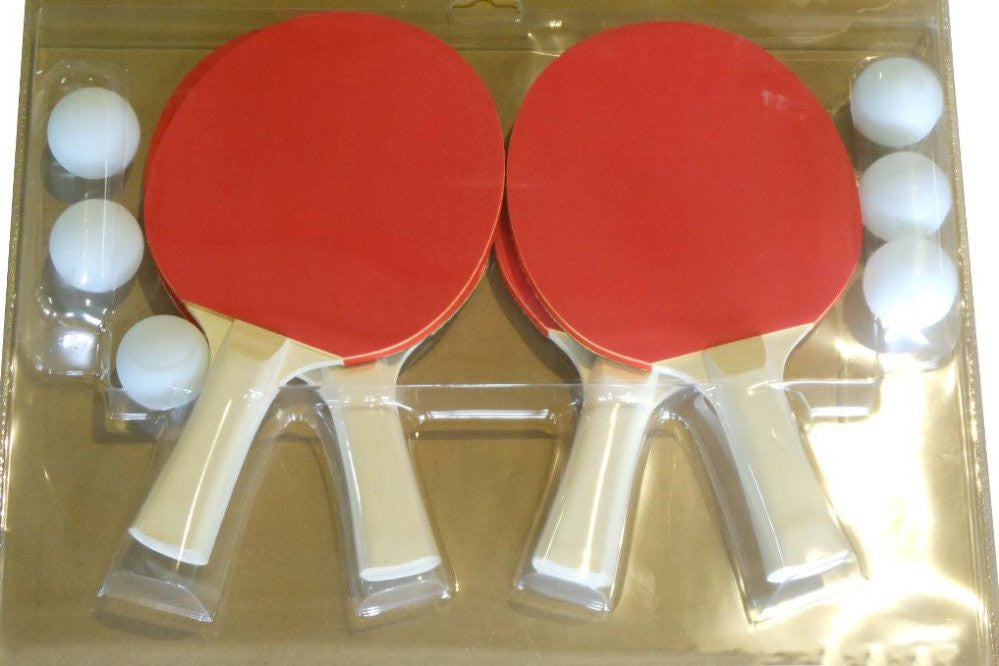Berner 4 Player Paddle Set with 6 Balls