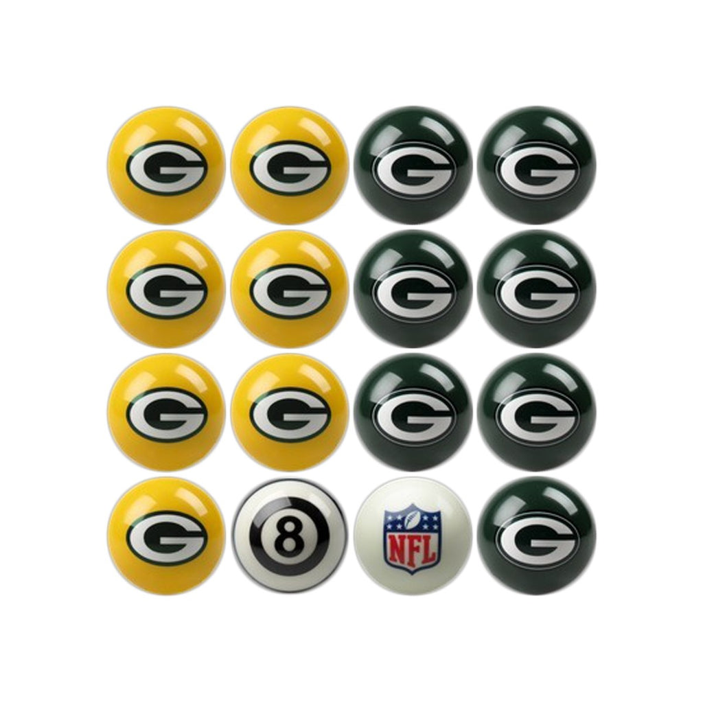 Imperial Green Bay Packers Home vs. Away Billiard Ball Set