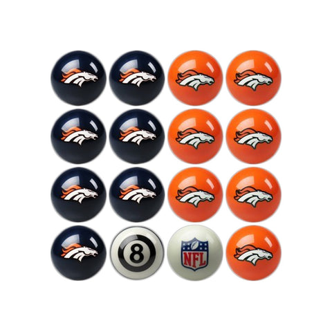 Imperial Denver Broncos Home vs. Away Billiard Ball Set