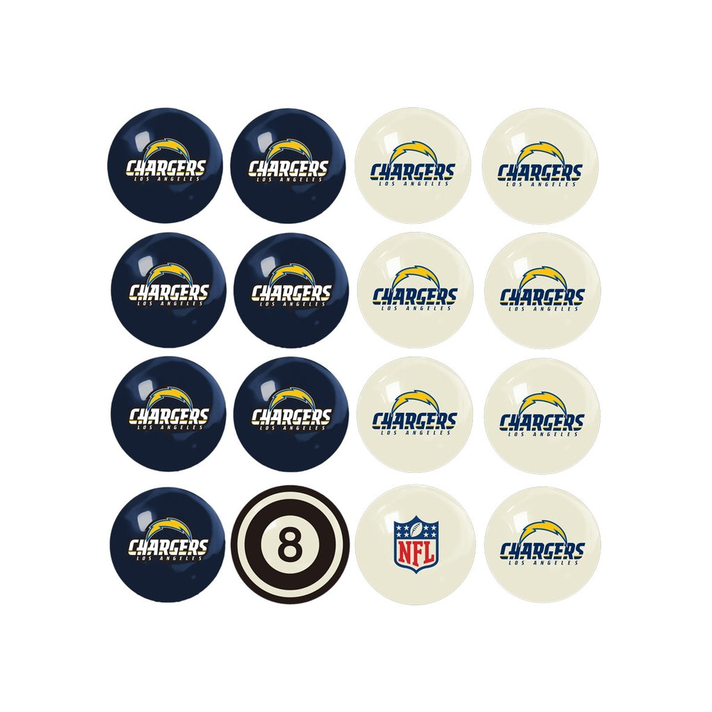 Imperial Los Angeles Chargers Home vs. Away Billiard Ball Set