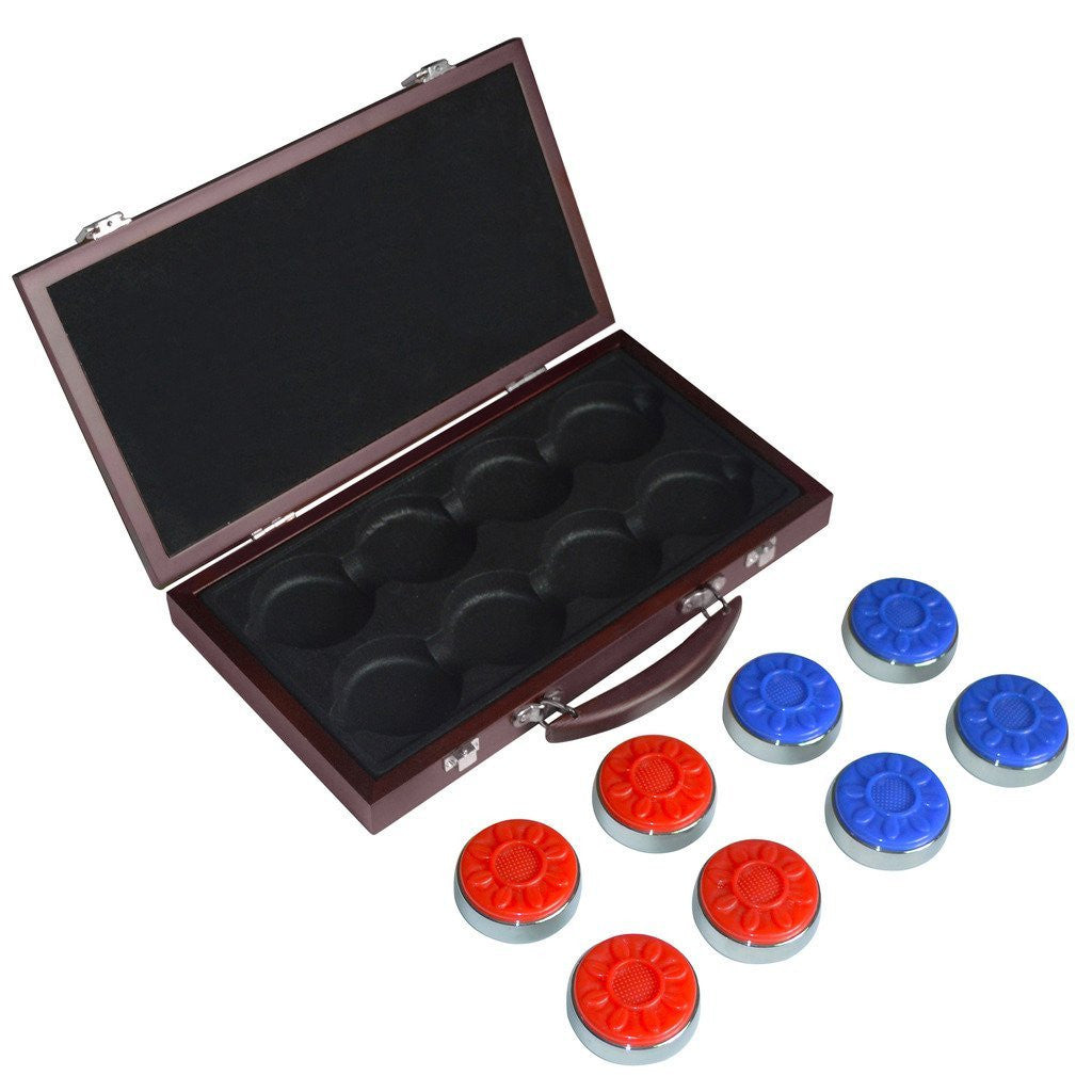 Carmelli Shuffleboard Pro-Series Puck Set in Wooden Box
