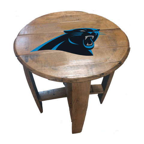 Imperial Carolina Panthers Oak Barrel Table