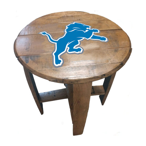 Imperial Detroit Lions Oak Barrel Table