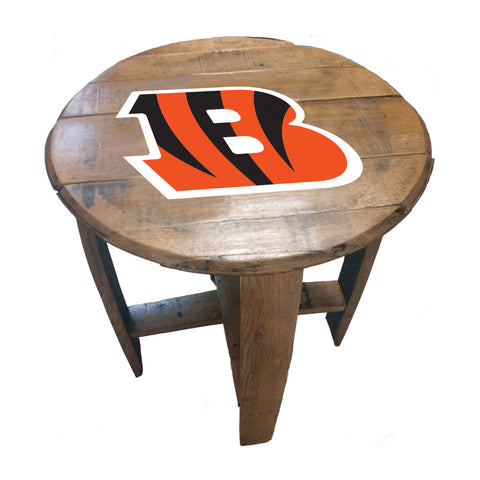 Imperial Cincinnatti Bengals Oak Barrel Table