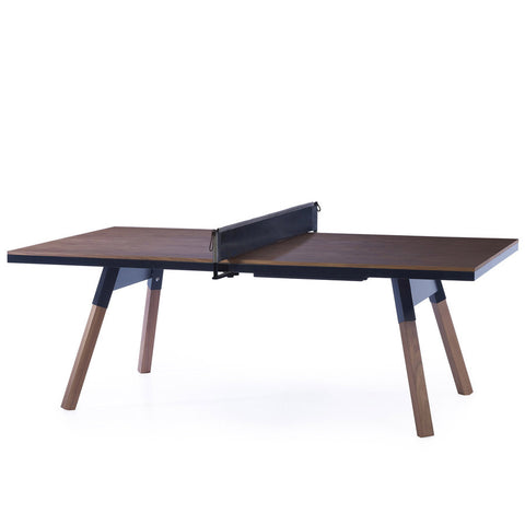 RS Barcelona You and Me Walnut-Black Standard Tennis Table