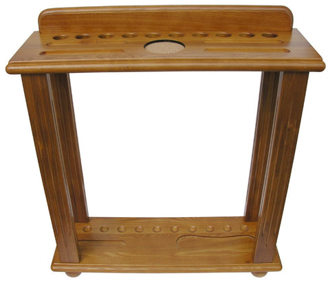 Berner Billiards 10 Cue Floor Rack in Oak