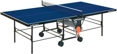 Butterfly Playback Rollaway Blue Table Tennis Table