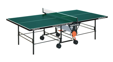 Butterfly Outdoor Playback Rollaway Green Table Tennis Table