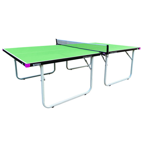 Butterfly Compact Outdoor Green Table Tennis Table
