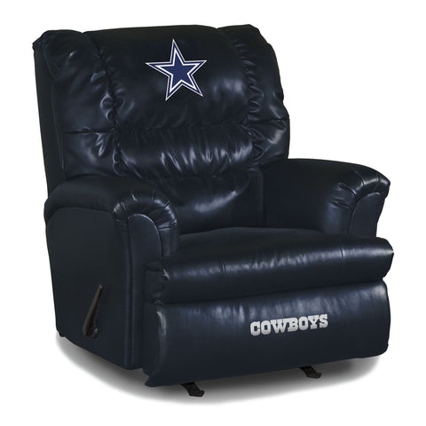 Imperial Dallas Cowboys Big Daddy Blue Leather Recliner