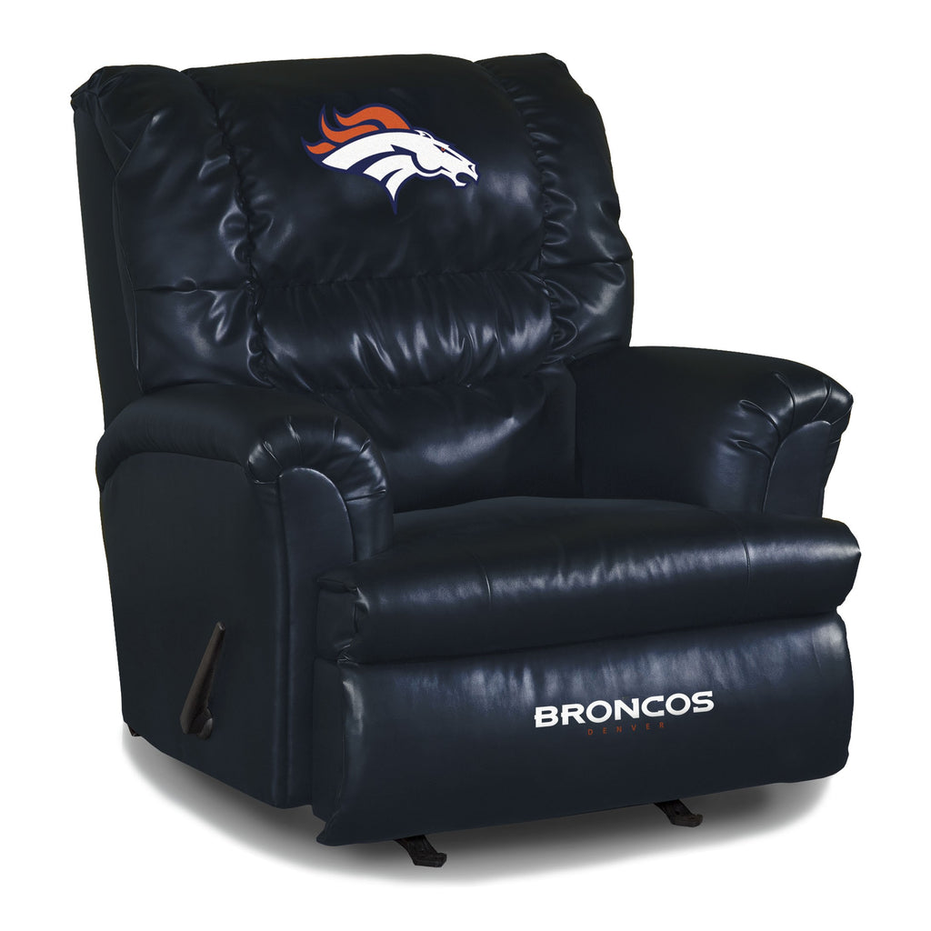 Imperial Denver Broncos Big Daddy Blue Leather Recliner