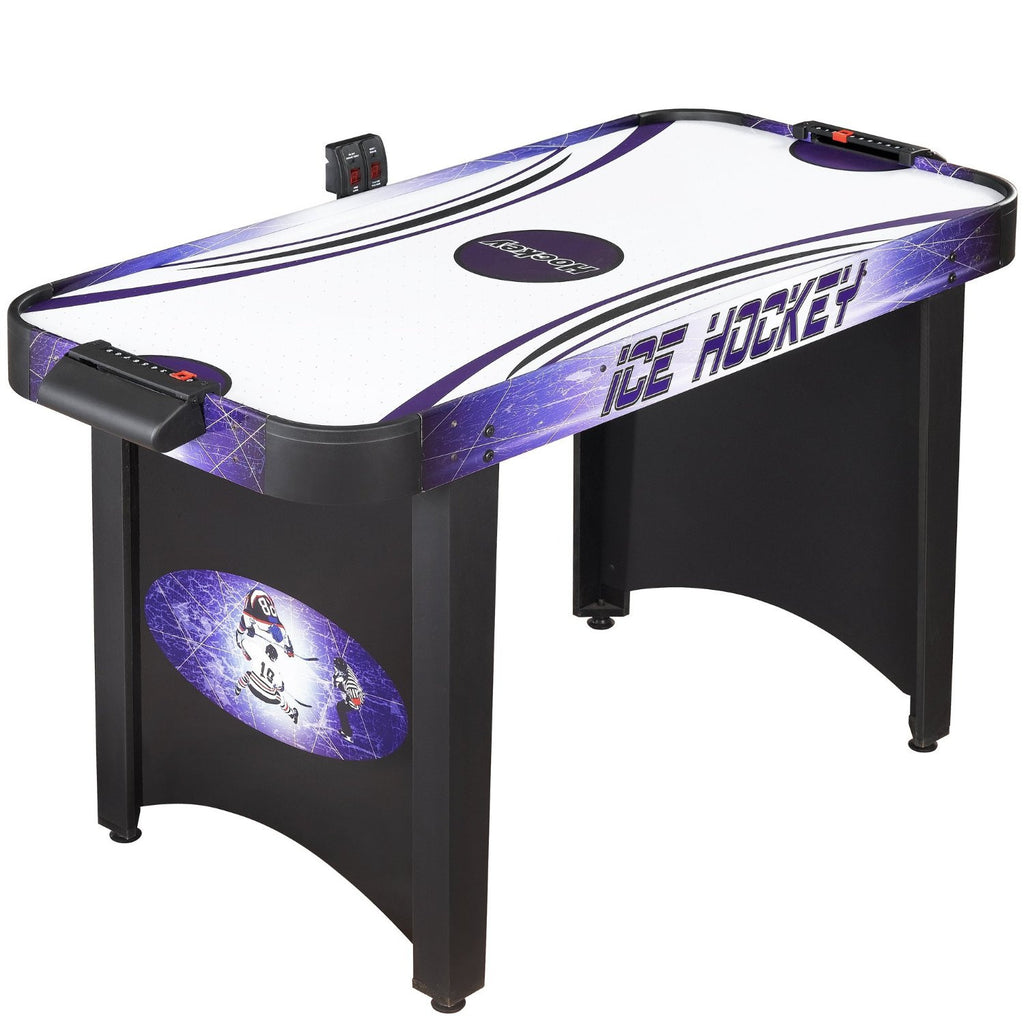 Hathaway 4' Hat Trick Air Hockey Table in Black/Blue