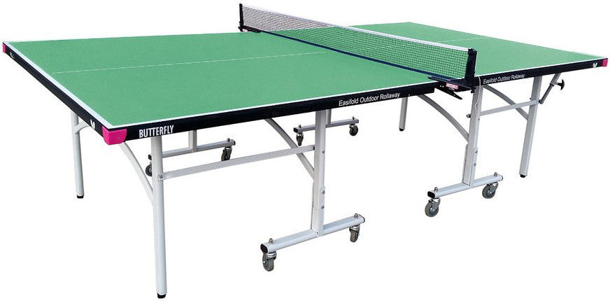 Butterfly Easifold Outdoor Rollaway Green Table Tennis Table