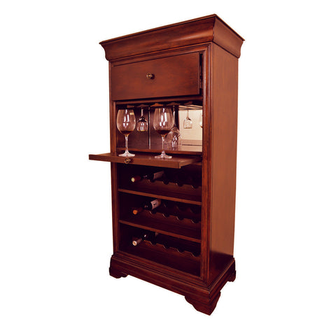 RAM Game Room Bar Cabinet w/ Wine Rack - English Tudor