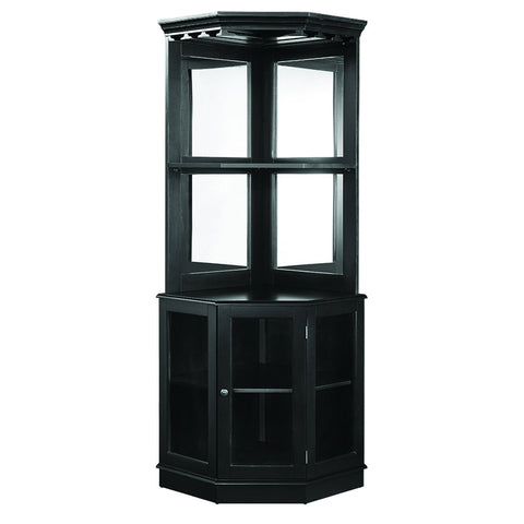 RAM Game Room Corner Bar Cabinet - Black