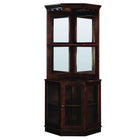 RAM Game Room Corner Bar Cabinet - Cappuccino