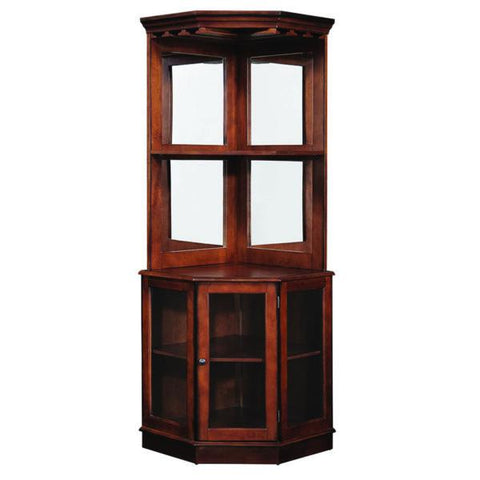 RAM Game Room Corner Bar Cabinet - Chestnut