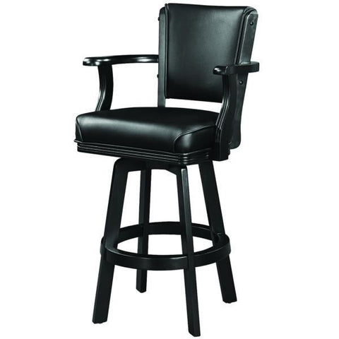 RAM Game Room Swivel Barstool with Arms - Black