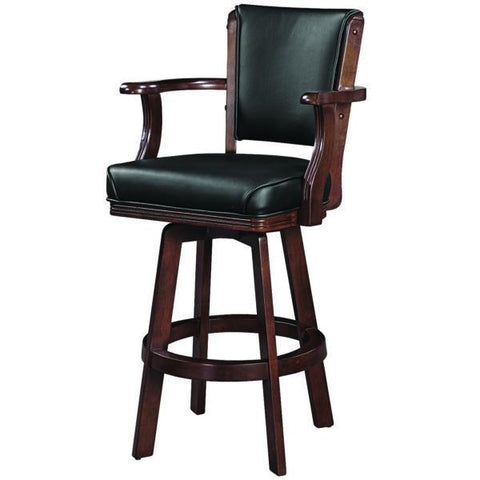 RAM Game Room Swivel Barstool with Arms - Cappuccino