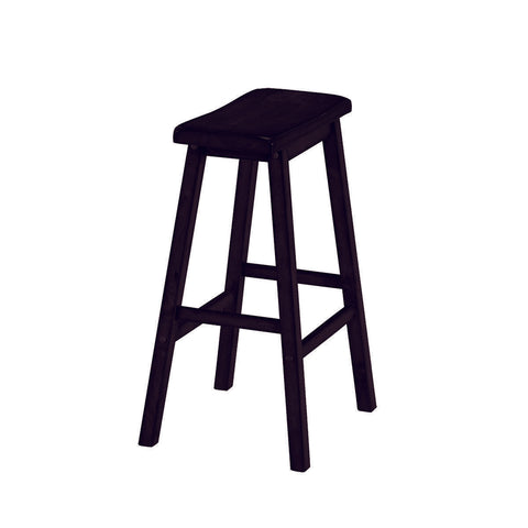 RAM Game Room Backless Saddle Barstool - Black