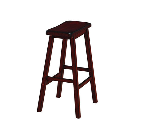 RAM Game Room Backless Saddle Barstool - English Tudor