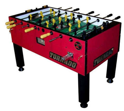 Tornado T-3000 Foosball Table In Red (Coin)