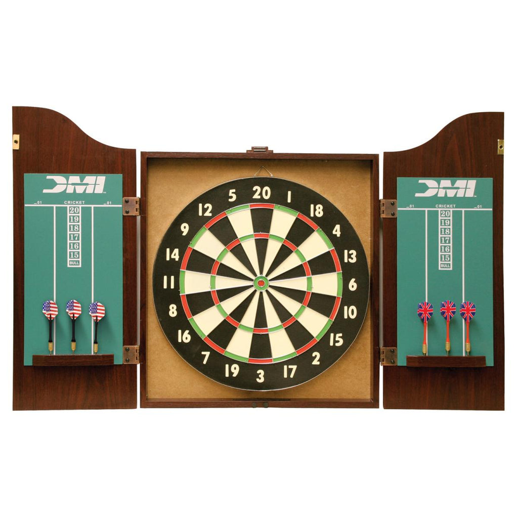 DMI Sports Recreational Dartboard Cabinet Set (Rosewood)