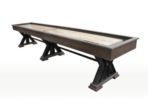 "Berner 12' ""The Weathered"" Shuffleboard Table in Desert Sand"