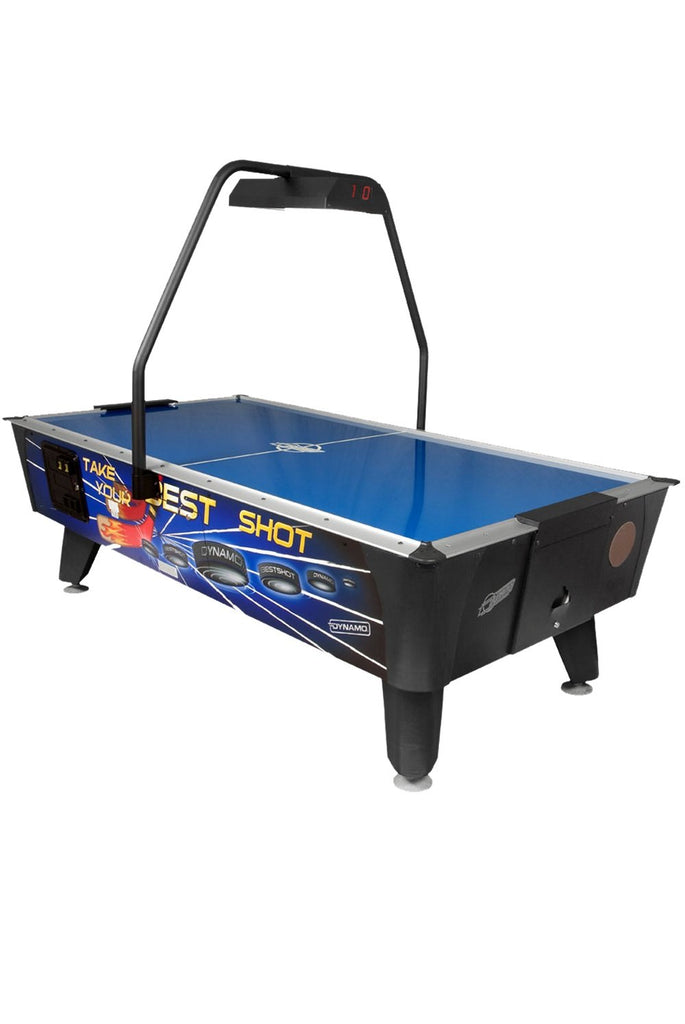 Dynamo 8' Best Shot Air Hockey Table with Overhead Scoring (Coin)