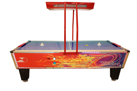 Gold Standard Games 8' Gold Flare Home Elite Air Hockey Table with Electronic Scoreboard