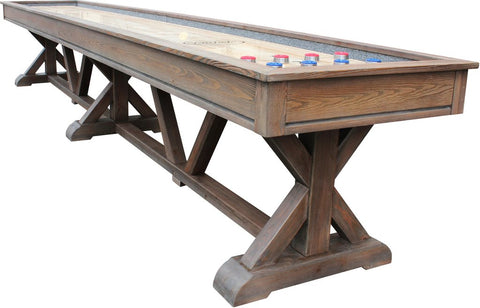 Playcraft Brazos River 12' Pro-Style Shuffleboard Table In Weathered Barn
