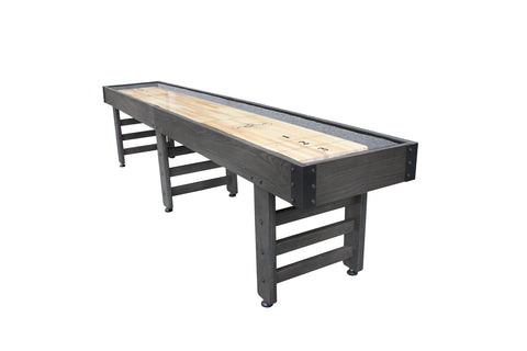 Playcraft 12' Saybrook Shuffleboard Table in Weathered Charcoal Gray