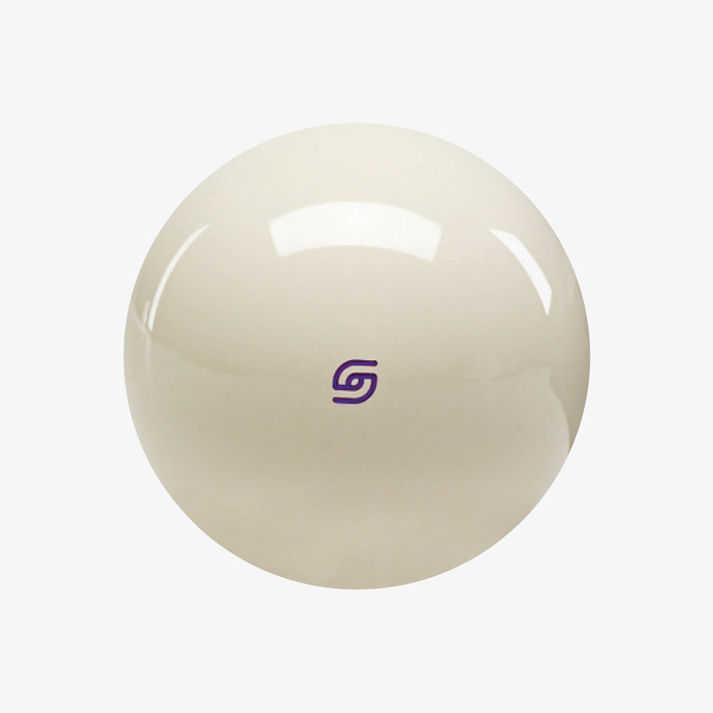 Aramith Magnetic Cue Ball with Purple Logo