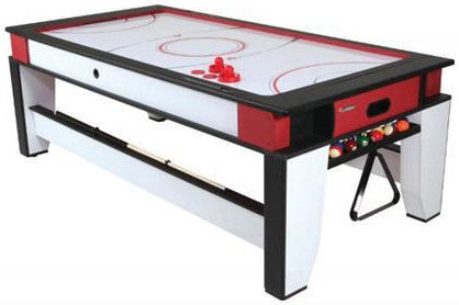 Atomic Multi 2-in-1 Billiard and Air-Powered Hockey Table