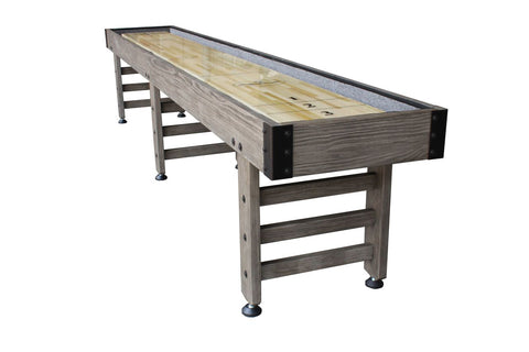 Playcraft 12' Saybrook Shuffleboard Table in Weathered Smoke