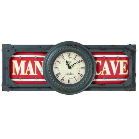 "RAM Game Room ""Man Cave"" Metal Clock"