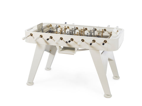 RS Barcelona RS2 Stainless Steel GOLD Outdoor Foosball Table in White