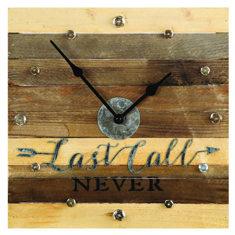 "RAM Game Room ""Last Call Never"" Clock"