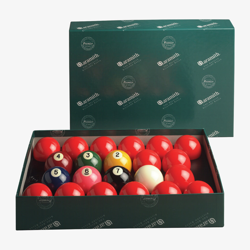 "Aramith Numbered Premier American Style 2 1/4"" Snooker Set"