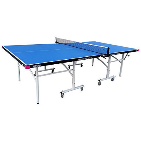 Butterfly Easifold Outdoor Rollaway Blue Table Tennis Table