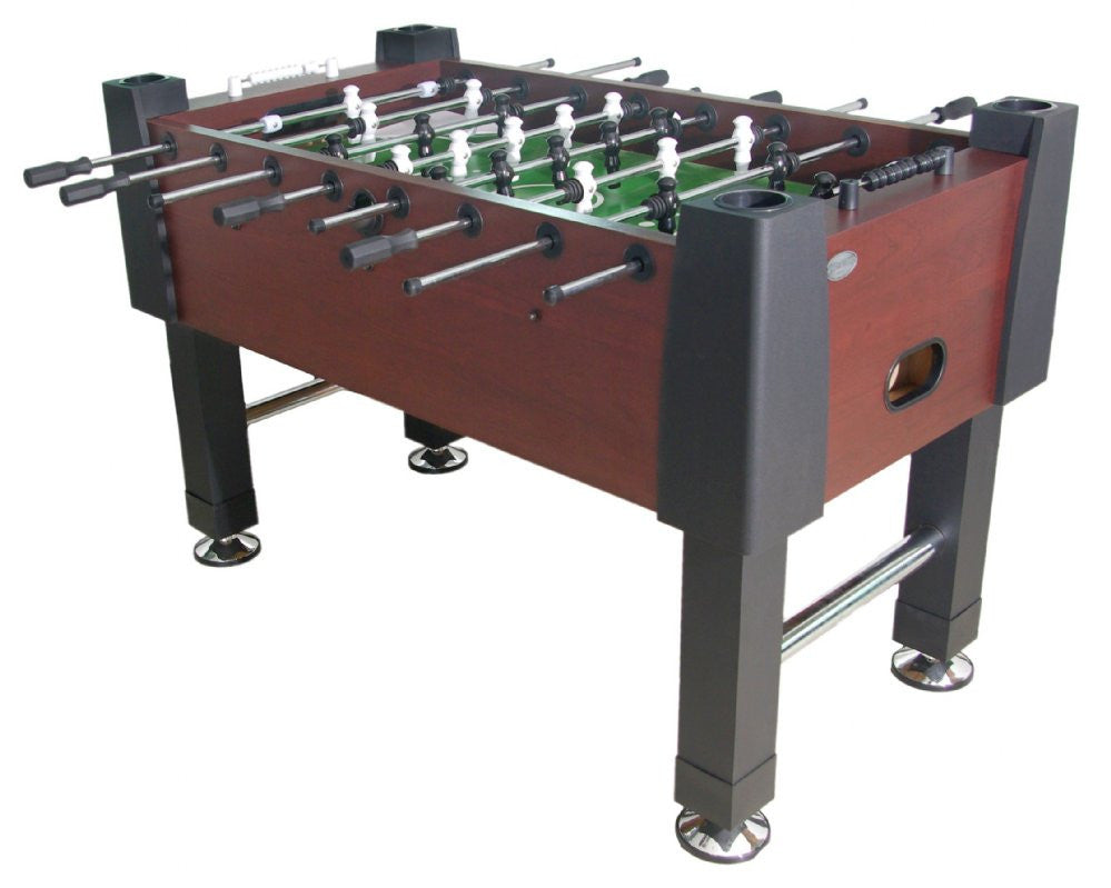 The Player Foosball Table in Mahogany by Berner Billiards available at Foosball Planet
