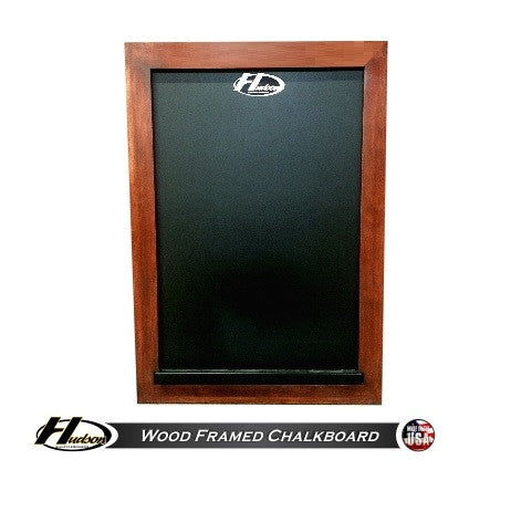 Hudson Wood Framed Chalkboard with Custom Stain Options