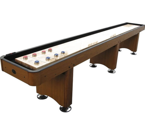 Playcraft Woodbridge 12' Shuffleboard Table in Honey Oak