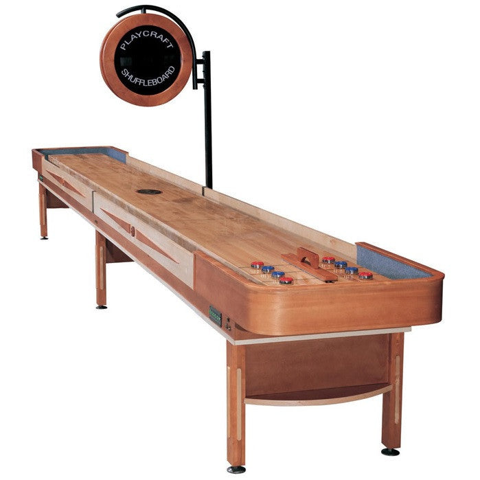Playcraft Telluride 12' Pro Style Shuffleboard Table in Honey