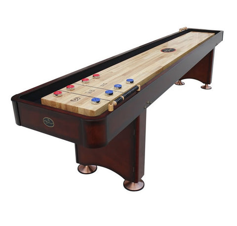 Playcraft Georgetown 12' Shuffleboard Table in Cherry
