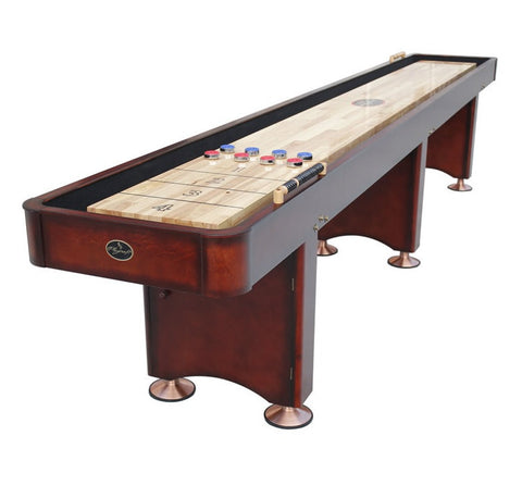 Playcraft Georgetown 14' Shuffleboard Table in Cherry