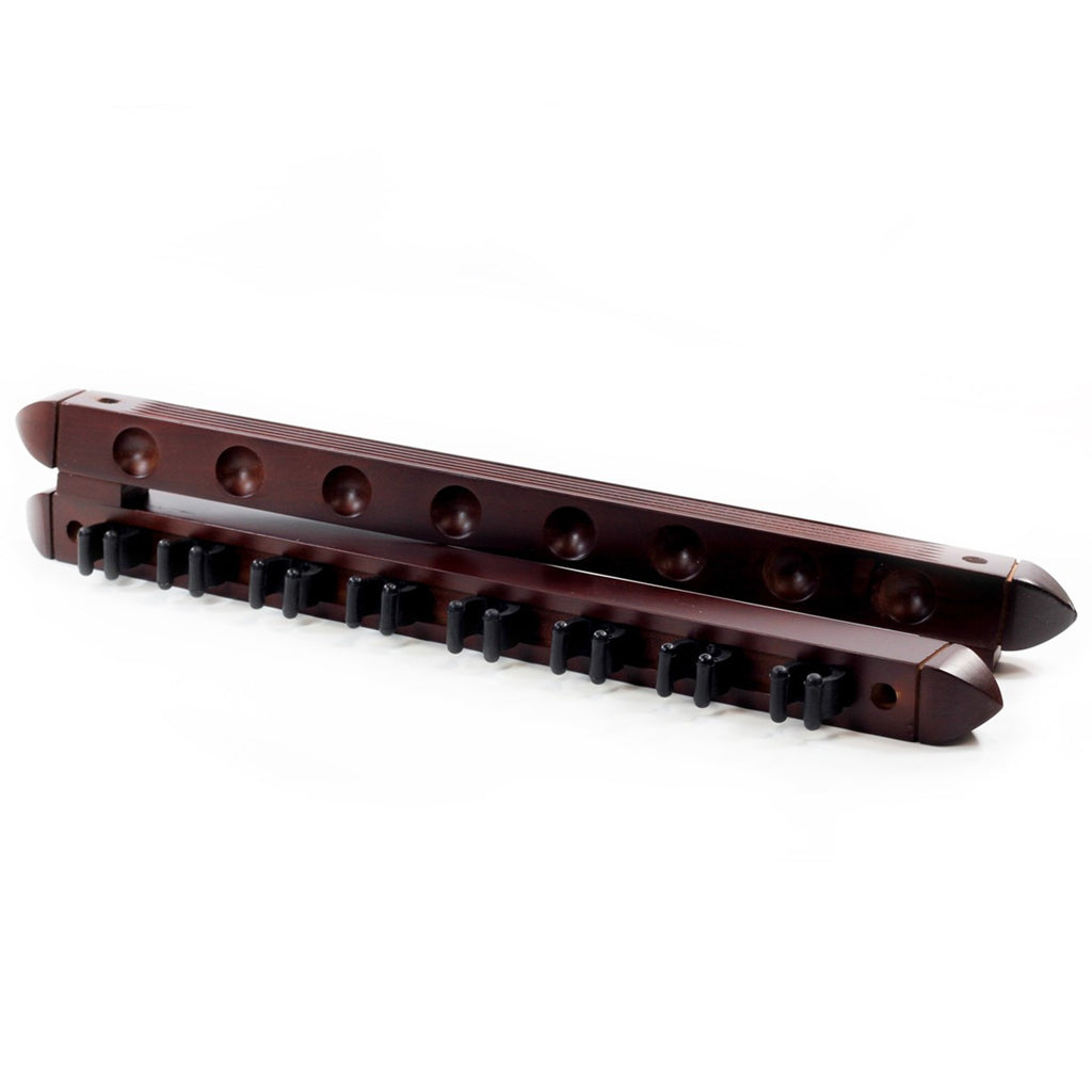 Imperial Roman 2 Piece Wall Rack 8 Cue in Mahogany