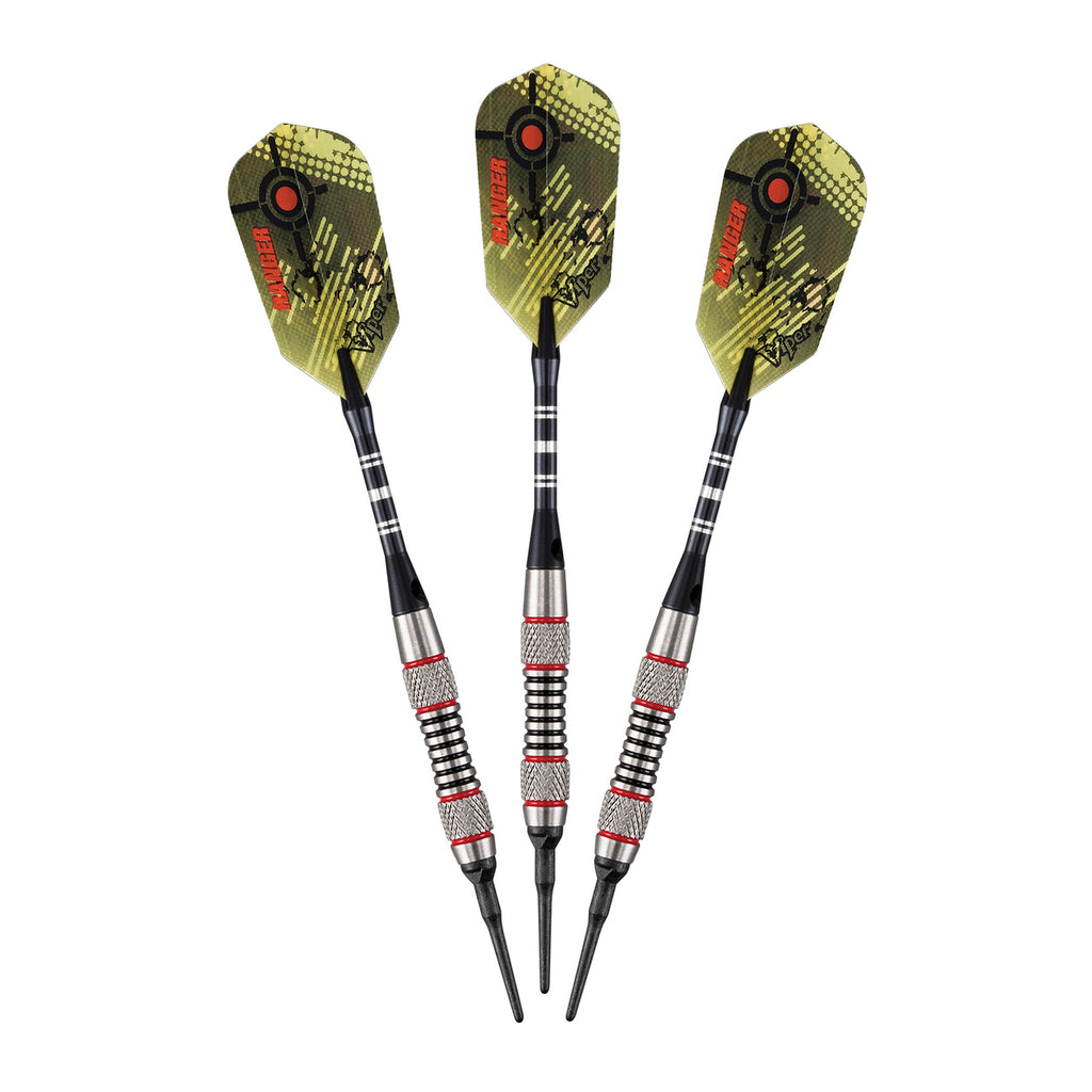Viper Ranger Tungsten Soft Tip Darts Red Rings 18 Grams