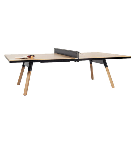 RS Barcelona You and Me Oak-Black Standard Tennis Table
